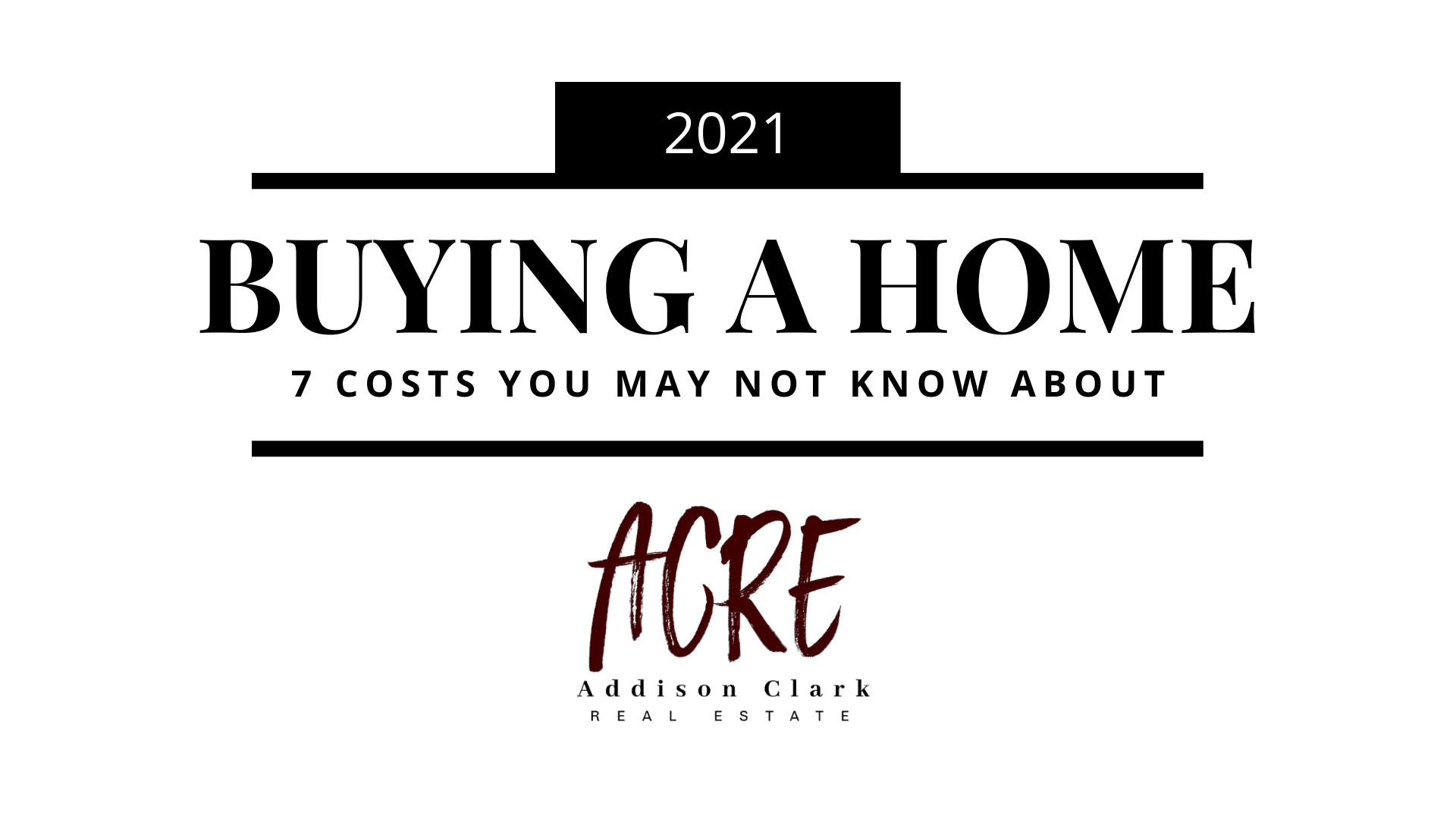 7 costs involved with buying a home
